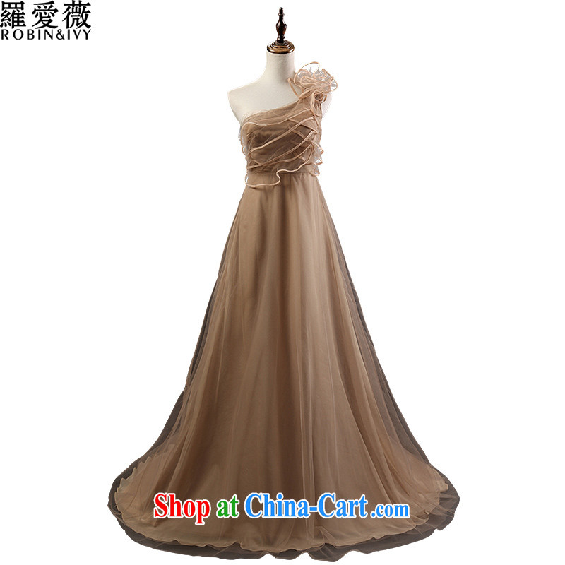 Love, Ms Audrey EU marriages served toast Brown, shoulder-length, tail wedding dresses 2015 stylish new beauty dress L 36,051 brown advanced customization