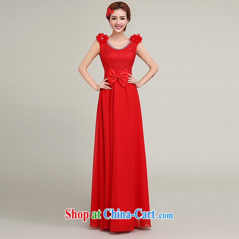Yi love is summer 2015 new bride's shoulders high waist pregnant women dress bridesmaid wedding toast wedding dress red length, wedding dresses long, to make the $30 does not return