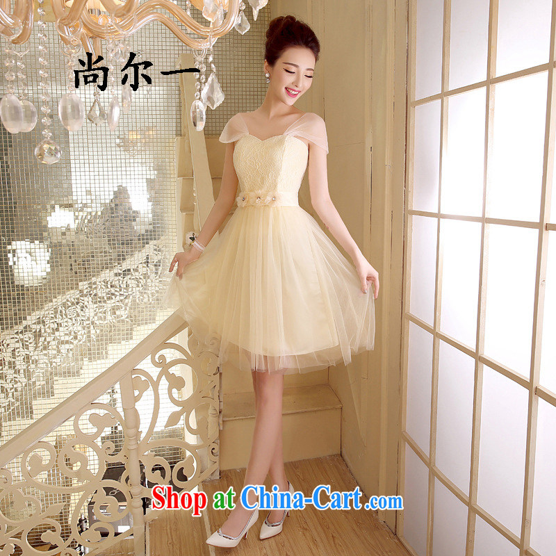 There's a new wedding dresses bridesmaid clothing tied with Korean short sister's wedding dresses small firm 5274 champagne color code