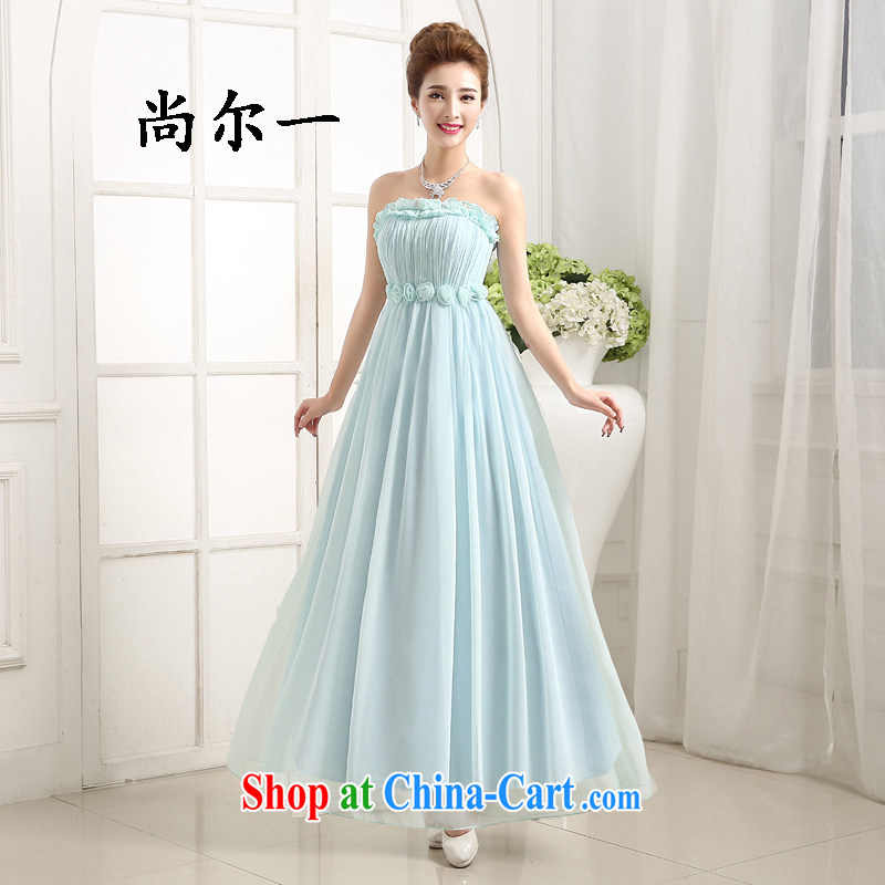 There's a new wipe chest dress long bridal gown show bridesmaid Evening Dress skirt 52,711 green are code