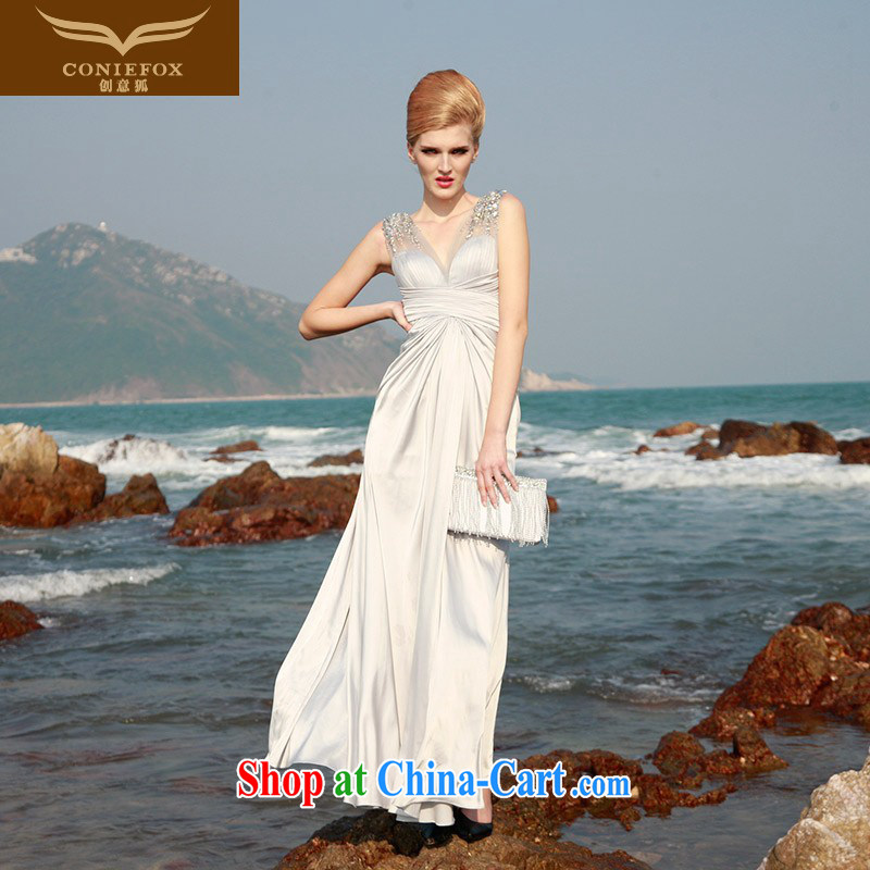 Creative Fox dress Stylish European long dress elegant softness dress dress wedding photography wedding dresses beauty everyday dress 80,602 light gray L