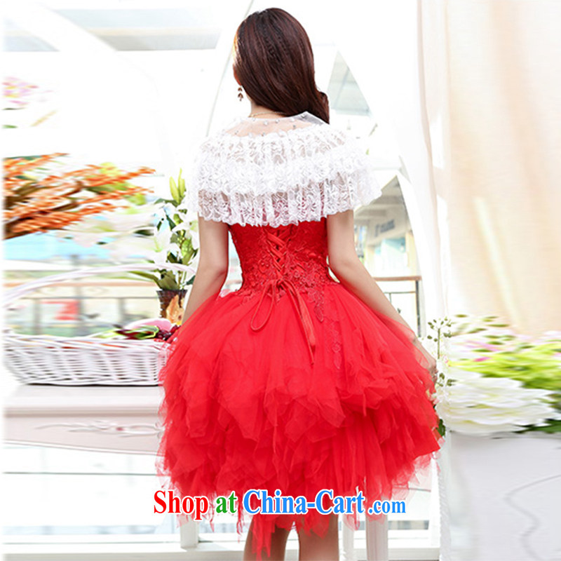 With her, summer, new Korean wedding dress girl with lace shawl ...