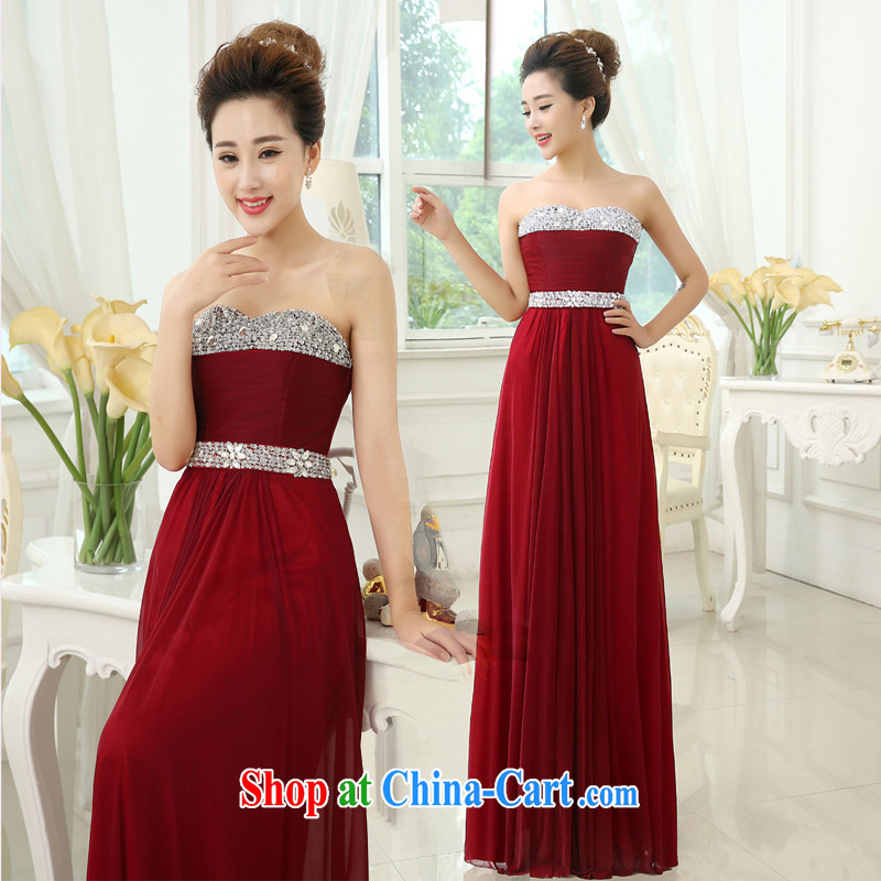 Pure bamboo yarn love 2015 New Red bridal wedding dress long evening dress Evening Dress toast Service Manual parquet diamond jewelry dress is very classy and brilliant deep red tailored please contact customer support.