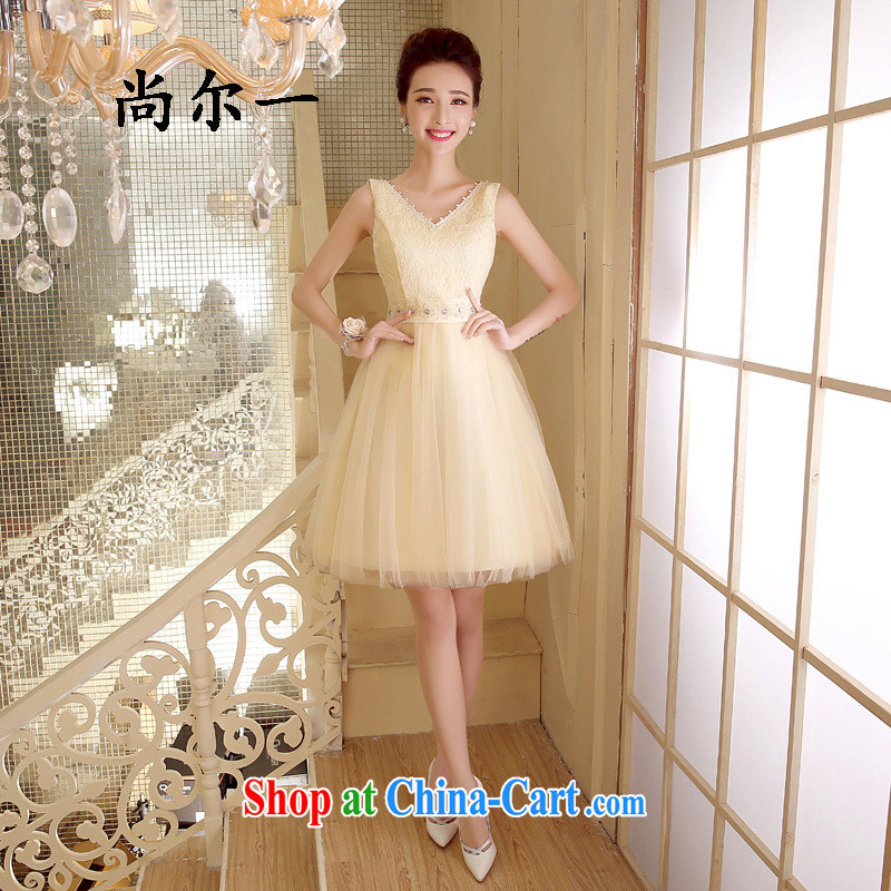 There's a banquet dress short sister in champagne color moderator small dress skirt 52,810 champagne color code