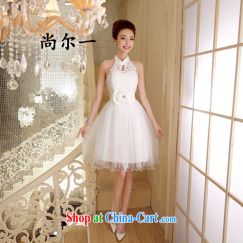 There's a new bridesmaid dress short Korean banquet sister's wedding dresses small firm spring and summer 52,811 white are code