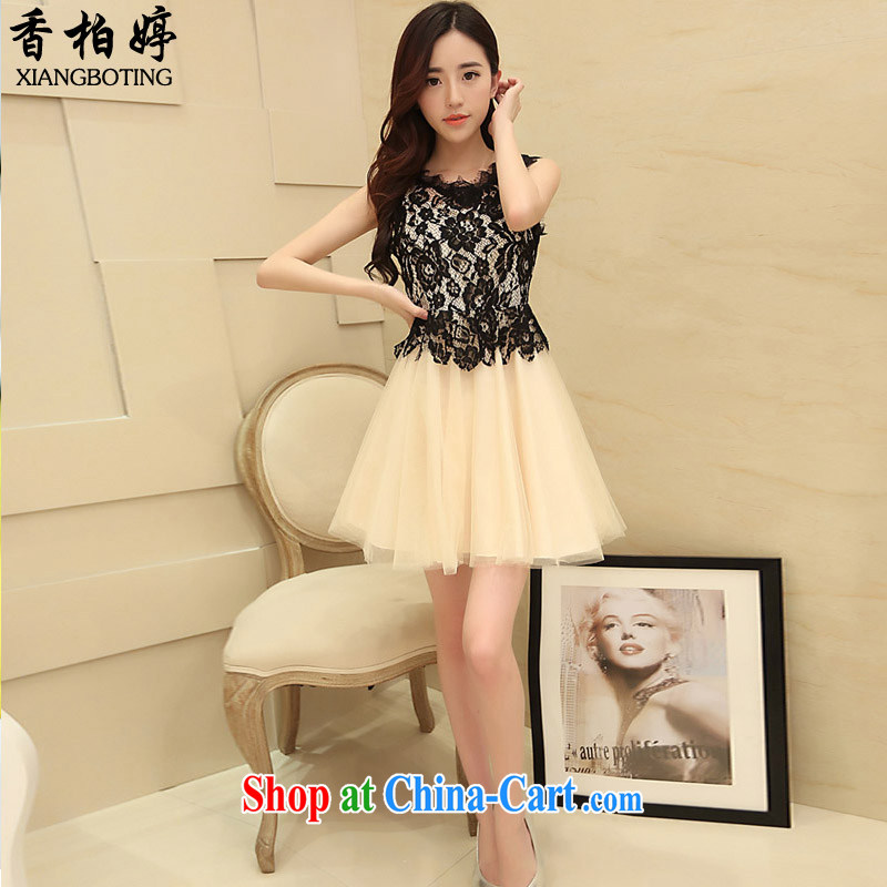Cedar Ting 2015 new stylish lace stitching the root dress elegance and aesthetic dress XBH 08 card its color L