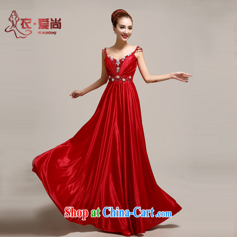 Yi is still love wedding dresses bridal toast clothing new 2015 Korean version stylish evening dress wedding bridesmaid serving long summer cultivating red to make the $30 do not return