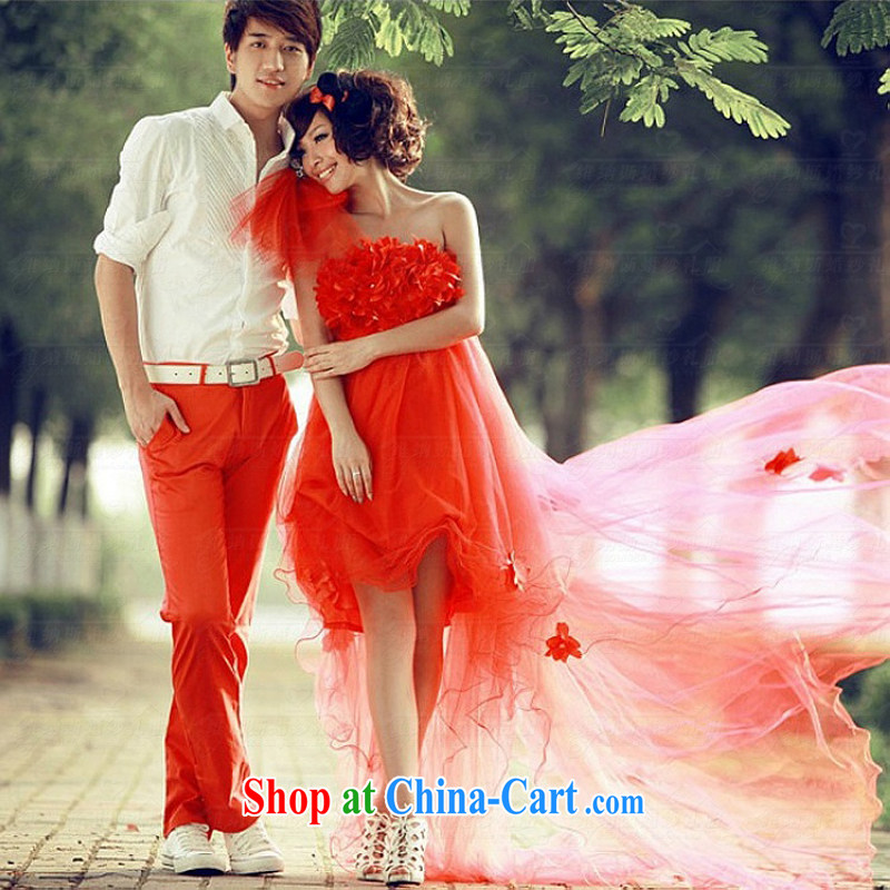 Pure bamboo yarn love 2015 new high-waist graphics thin bridal wedding dresses wiped his chest after short-tail bows. white flowers fairy dress red tailored contact Customer Service
