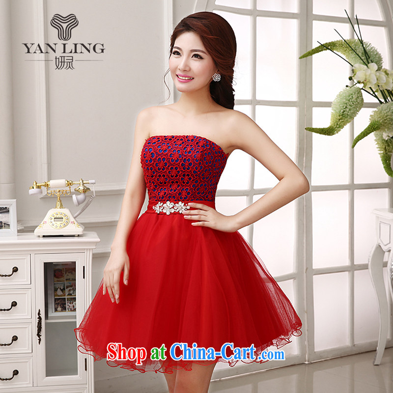 Her spirit 2015 dress bridal toast service 2014 marriage bridesmaid mission the betrothal sister's short red dress LF 204 red L