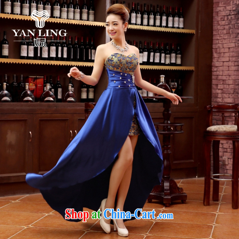 Her spirit marriage wedding dresses short bridesmaid mission the marriage tie short Evening Dress wedding dress small blue XL