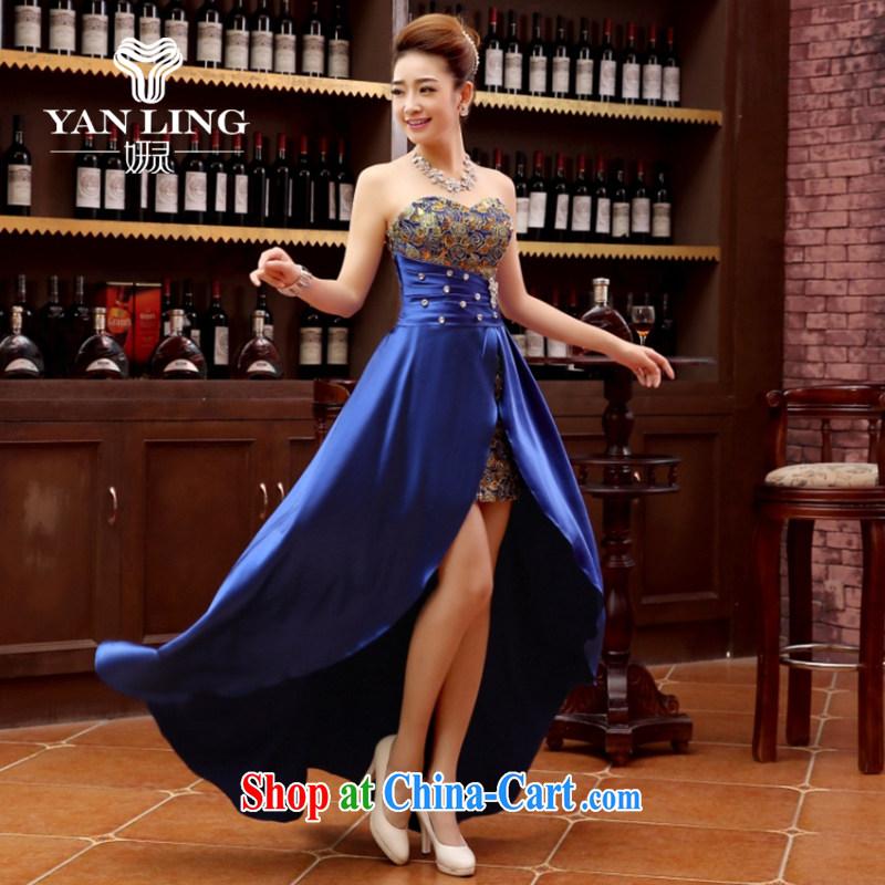 Her spirit marriage wedding dresses short bridesmaid mission the marriage tie short Evening Dress wedding dress small blue XL