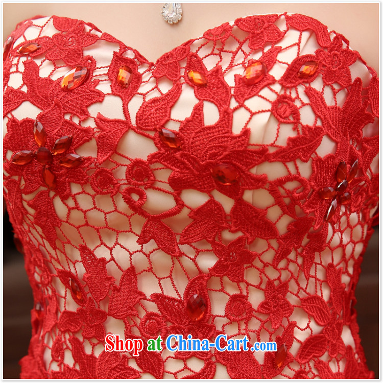Her spirit marriage wedding dresses short bridesmaid in the wedding band, long evening dress wedding dress small red XL pictures, price, brand platters! Elections are good character, the national distribution, so why buy now enjoy more preferential! Health