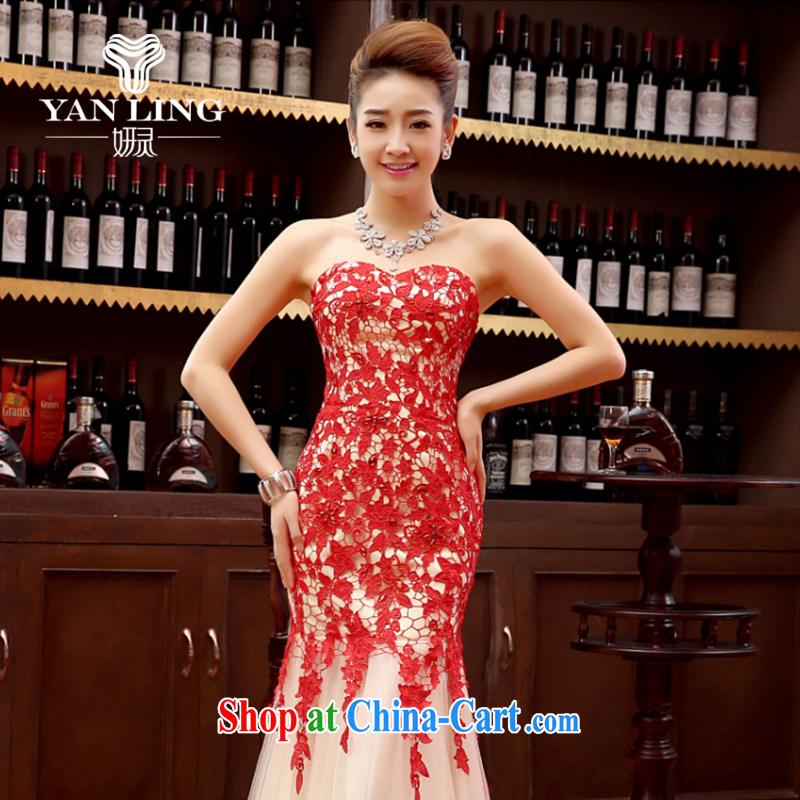 Her spirit marriage wedding dresses short bridesmaid in the wedding band long evening dress wedding dress small red XL, her spirit, and shopping on the Internet