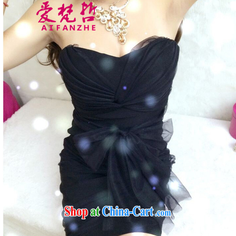 Love Van Gogh Chul .2,015 night sexy bare chest dress F 867 #black are code