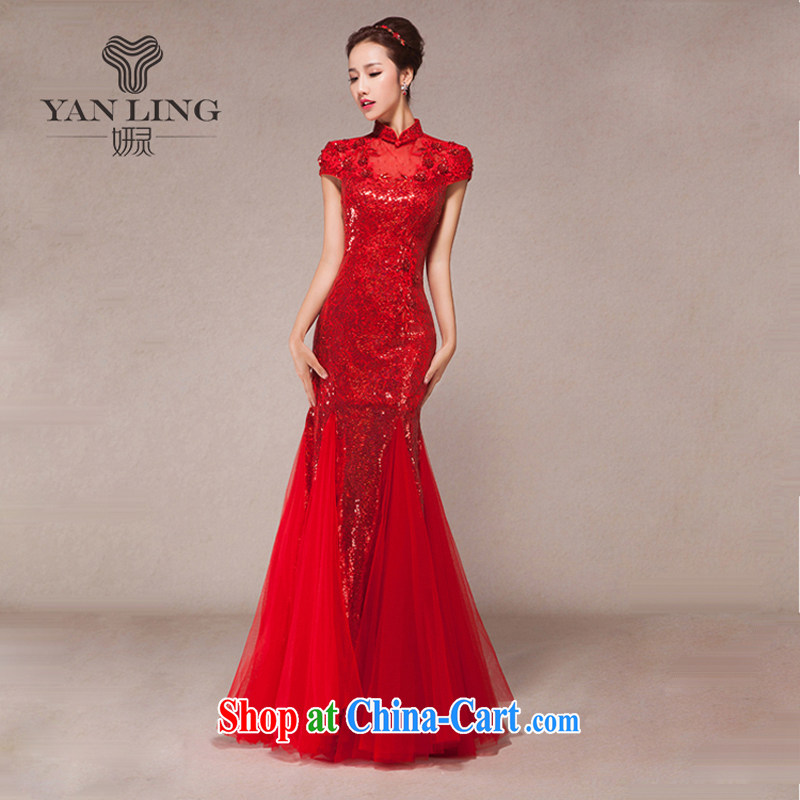 Her spirit new spring 2015, married women serving toast cultivating crowsfoot gathering long evening dress the annual dress XXL