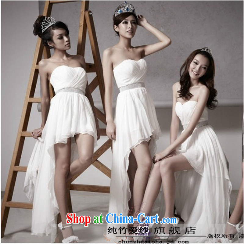 Pure bamboo love dresses wedding dresses 2015 new dress summer Korean Korean brides former short long wedding dresses new bridal gown bridesmaid dress white tailored contact Customer Service