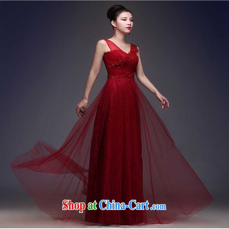White first about evening dress 2015 New Long banquet bridal toast clothing stylish spring beauty beauty double-shoulder wedding dress summer deep red tailored contact Customer Service