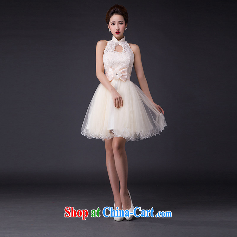 Hi Ka-hi wedding dresses 2015 new sense of Korean Princess bride wiped his chest strap short, only the US shaggy dress bridesmaid JX served 10 champagne color left size tailored