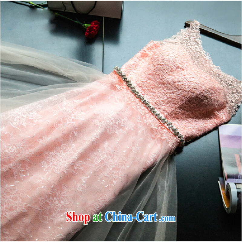 wedding dresses 2015 new Korean lace bridal toasting banquet, President, Evening Dress small tail dress and pink tailored contact Customer Service