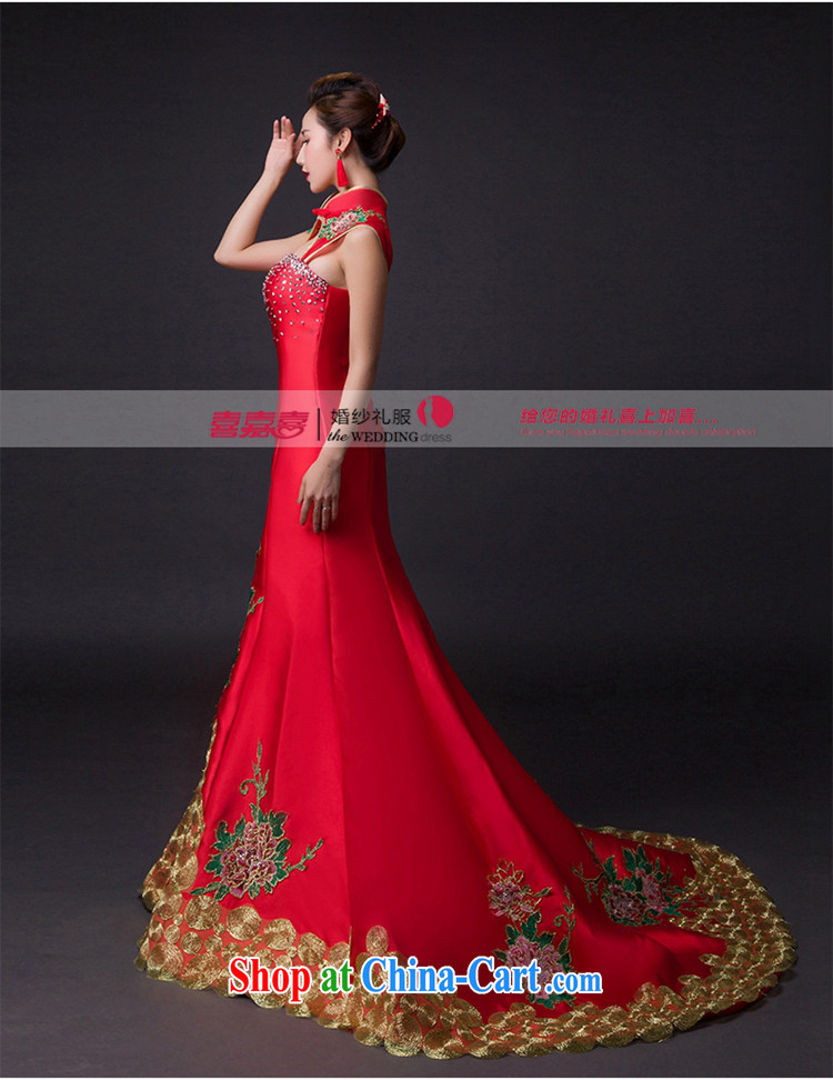 Hi Ka-hi 2015 new bows dresses, classic style retro fine embroidery only American-tie dress skirt L 007 wine red leaves size tailored pictures, price, brand platters! Elections are good character, the national distribution, so why buy now enjoy more preferential! Health
