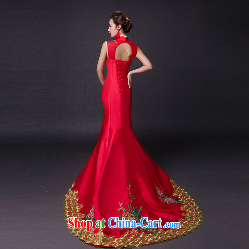 Hi Ka-hi 2015 new bows dresses, classic style retro fine embroidery only the US is withholding dress skirt L 007 wine red leaves size tailored-hi Ka-hi, shopping on the Internet