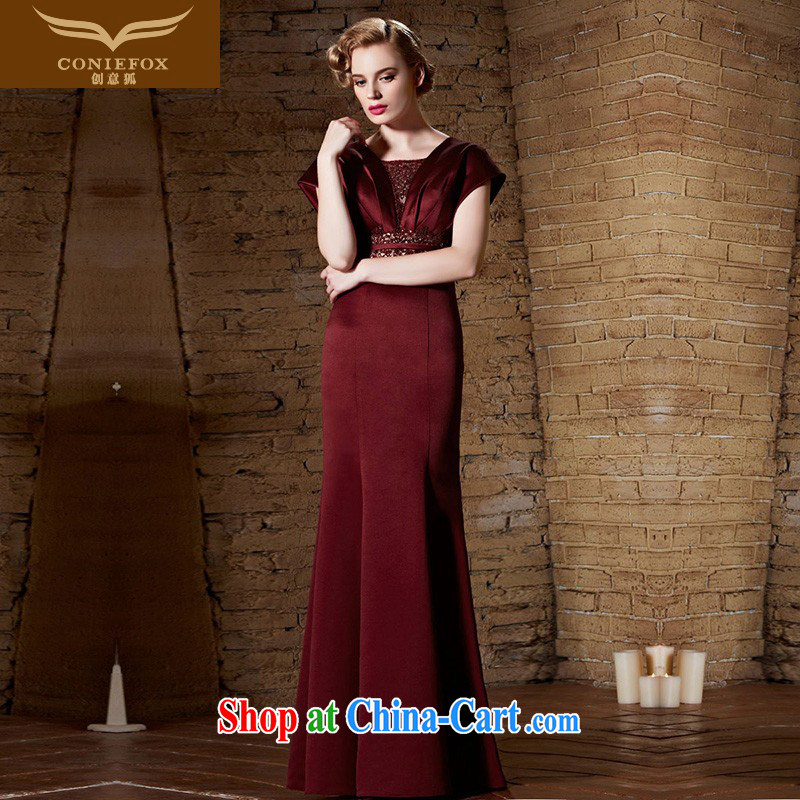 Creative Fox Evening Dress 2015 new staples ballet Pearl silk dress long cultivating moderator dress evening dress dress bridal toast serving 30,868 dresses picture color M