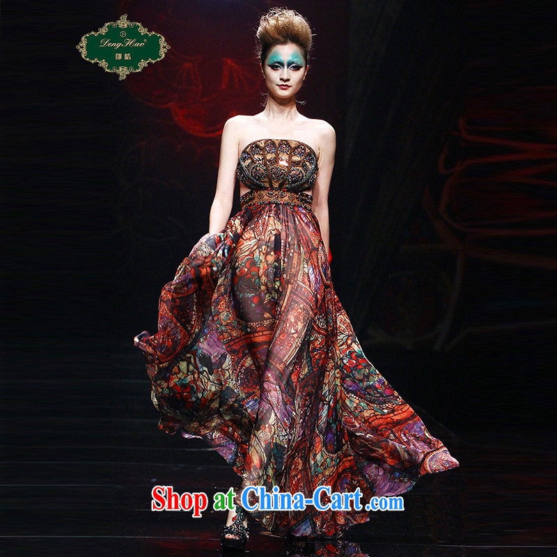 Mr Tang Ho-original design high-end custom luxury stamp dresses summer staple manually Pearl dress skirt 001