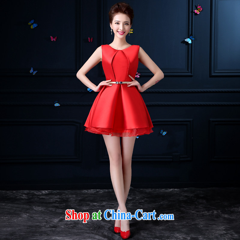 A good service is 2015 New Evening Dress bridal red wedding toast serving short small banquet dress Evening Dress female Red 3 XL