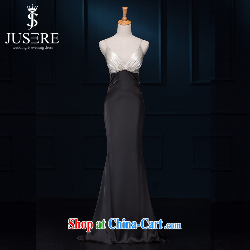 It is not the JUSERE high-end wedding dresses 2015 new summer evening dress short bridesmaid toast Evening Dress shoulders small dress and multi-color optional 4898 black-and-white M
