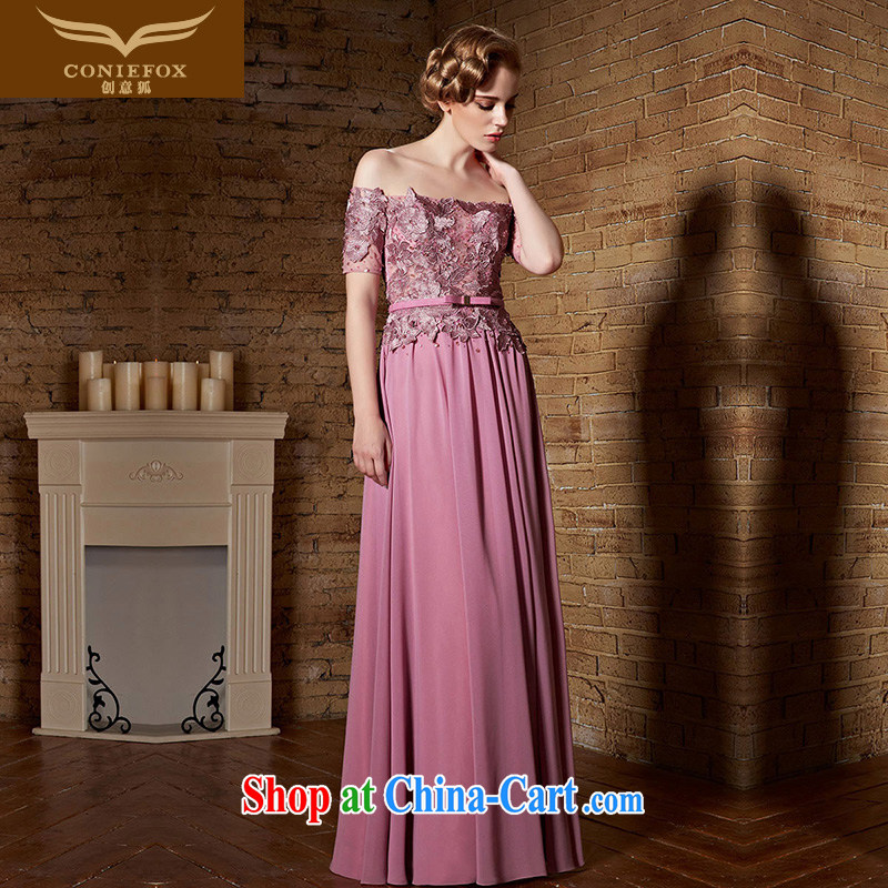 Creative Fox Evening Dress 2015 New Field shoulder bridal wedding dresses wedding toast service beauty long banquet dress long skirt 82,169 pink XXL