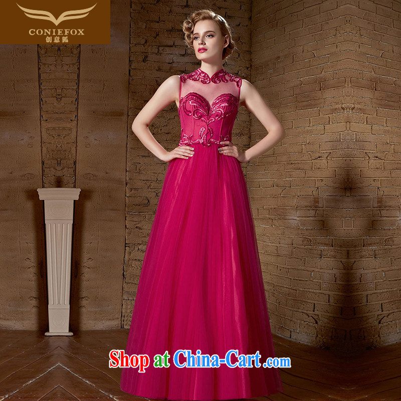 Creative Fox dress elegant long of red wedding dresses wedding toast Service Bridal bridesmaid wedding dresses Welcome Kit with long skirt 30,889 red XXL