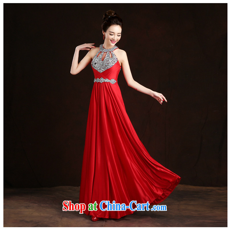 White first to approximately 2015 new mount also dress moderator banquet evening sexy long red bridal toast spring serving female Red M