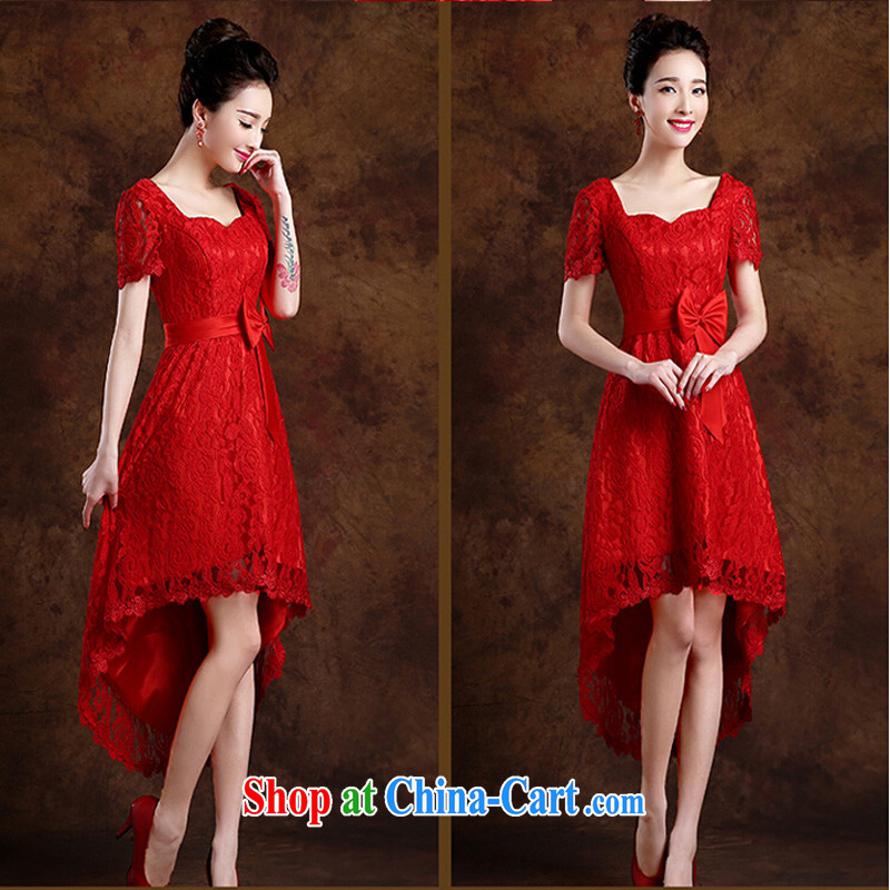 Pure bamboo yarn love 2015 New Red bridal wedding dress long evening dress Evening Dress toast only serve us in cultivating cuff dress red XXL