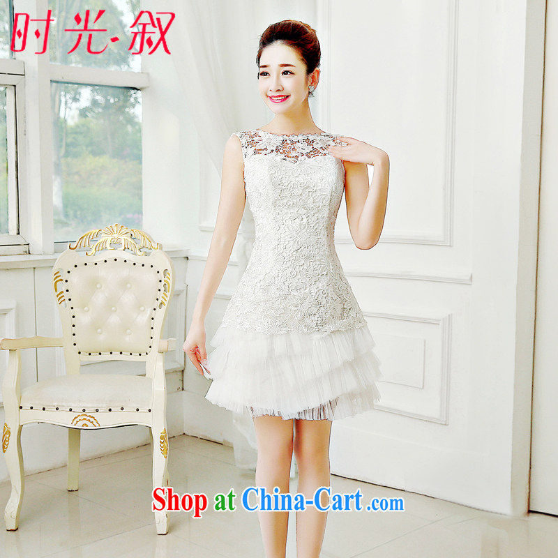 Time his Evening Dress 2015 new Korean Red short banquet spring and summer toast serving marriages and stylish bridesmaid female white XXL