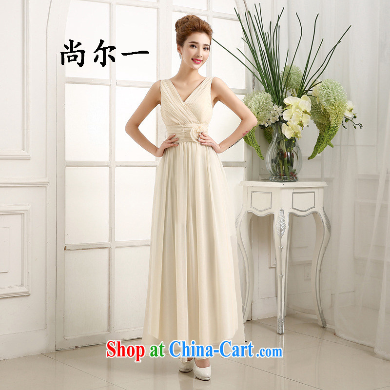 There's a bridesmaid summer serving New bridesmaid dresses in SISTER bridesmaid dress Evening Dress long dress long skirt bridesmaid dress 6414 champagne color code