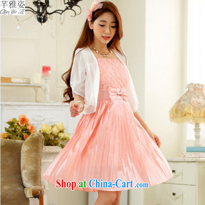 The 2015 new sweet blossoms erase chest dress XL straps skirt wedding dress bridesmaid dress sister mm thick lady skirt summer pink�XXXL approximately 160 - 180 jack
