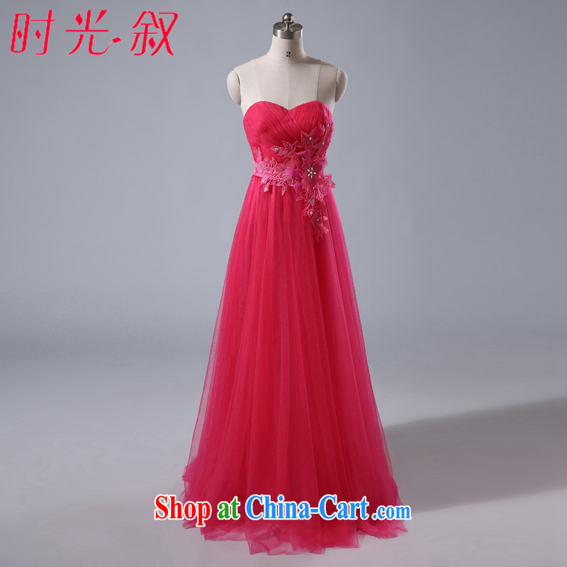 Time his new bridesmaid dress long pink sister dress bridal toast wiped his chest bridesmaid dress evening dress evening dress small sister's banquet the betrothal of red M