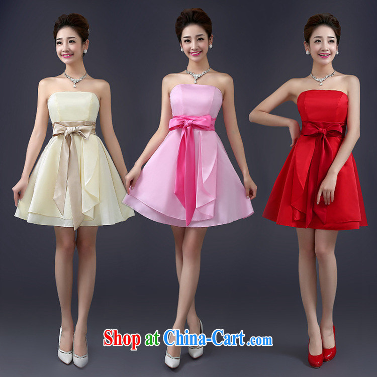 There is a summer new bridesmaid dress boudoir honey and sisters short skirts, bare chest bows uniforms show small dress 6111 red are code pictures, price, brand platters! Elections are good character, the national distribution, so why buy now enjoy more preferential! Health