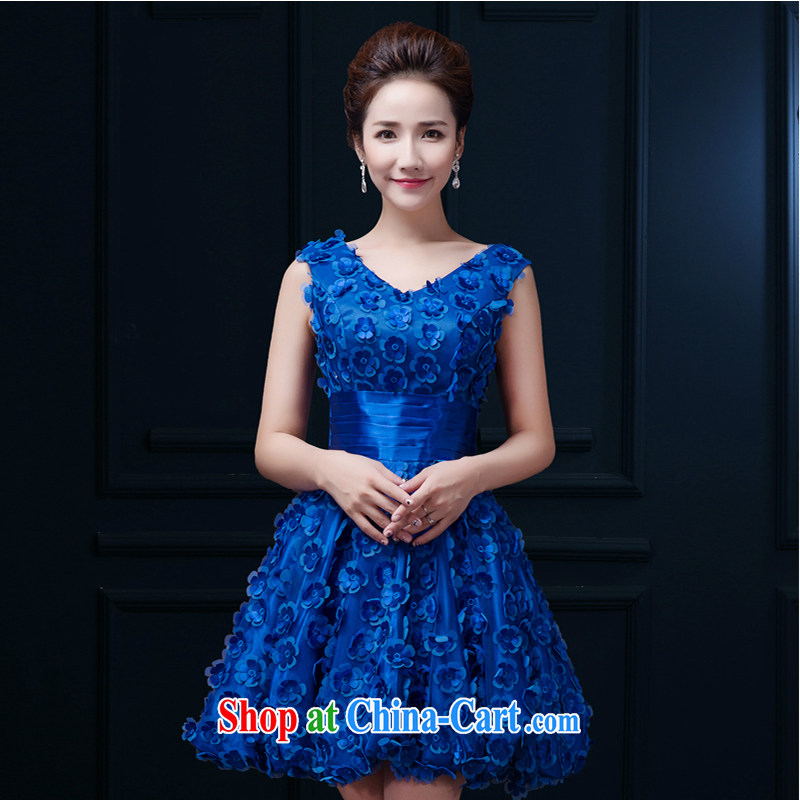 White home about bridal toast service summer 2015 spring red wedding dress short dual-shoulder bridesmaid dresses small banquet girl blue tailored contact Customer Service