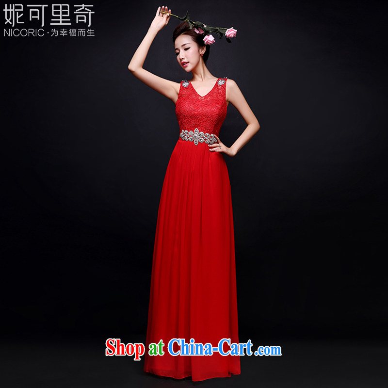 Bridal toast service 2015 new summer wedding champagne color red moderator dress banquet dress bridesmaid serving long wooden drill two-color red Advanced Customization + $30 5 day shipping
