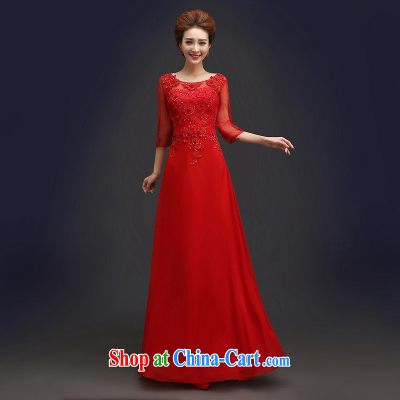 Kou Connie red bridal wedding dresses 2015 summer fashion new Chinese in binding cuff with a long, slim body bows. Female red tailored final
