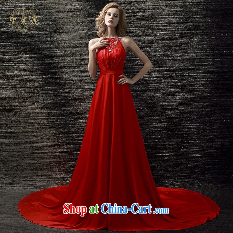 Holy, Connie wedding dresses 2015 summer New Red crowsfoot bridal toast Ms. dress the code the tail bridal dress red M