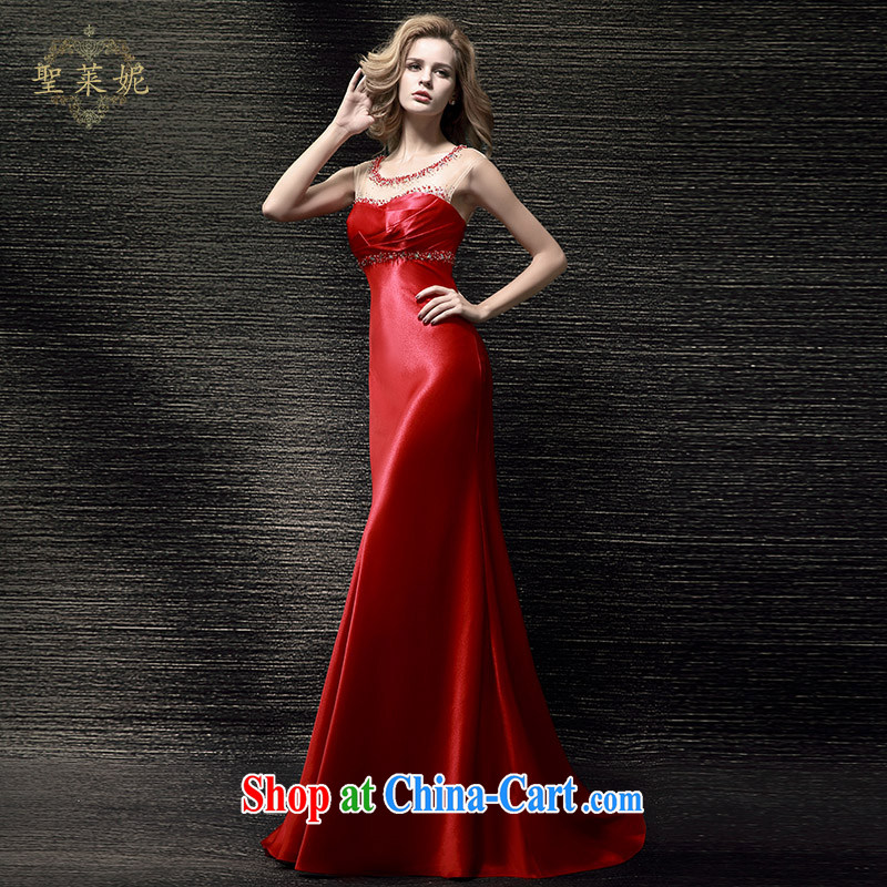 Holy, Connie wedding dresses 2015 summer New Red double-shoulder bridal back door bows her dress code the small tail skirt red S