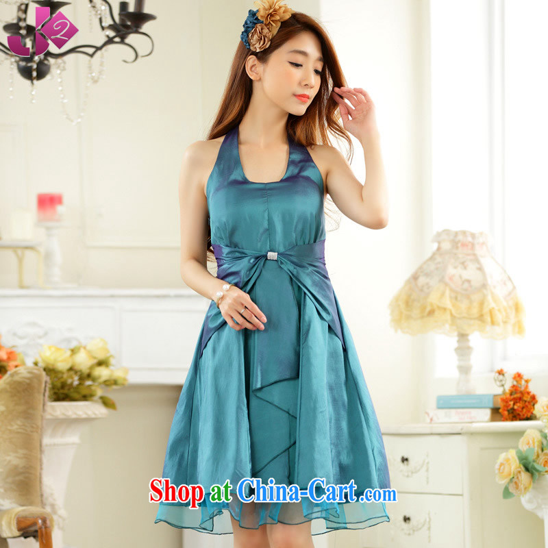 2 JK sexy dinner small dress dresses beauty graphics thin, long, the code is also a solid color ball bridesmaid clothing green XXXL 175 recommendations about Jack