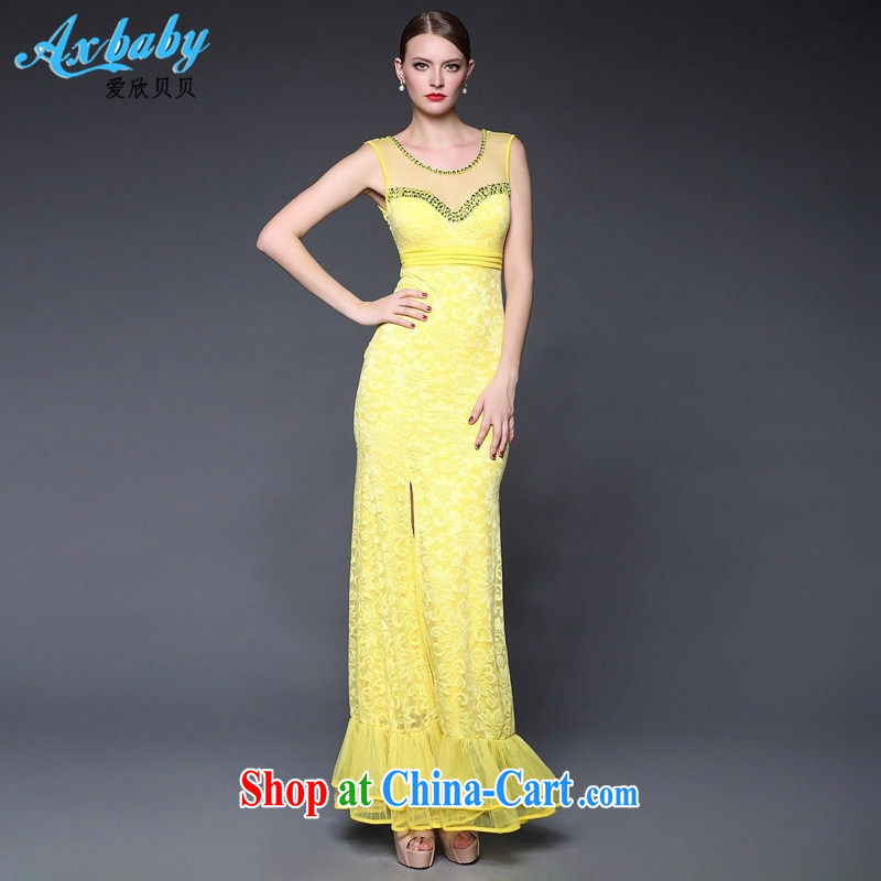 Love Yan Babe (AxBaby) 2015 new summer crowsfoot lace beauty and stylish and elegant evening dress dresses W 0282 white are code