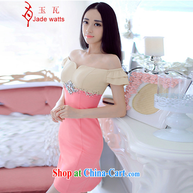 Jade, summer 2015 MS Word beauty shoulder graphics thin dress package and dress 4030 picture color L