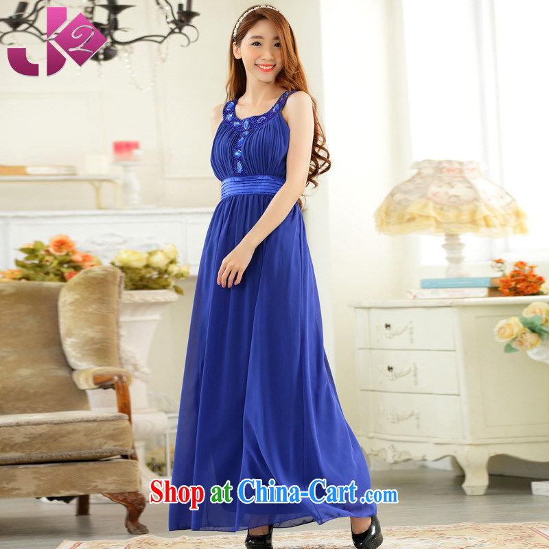 2 JK summer 2015 New Year Night presided over the purely manual staple Pearl sleeveless large yards, snow dress woven dresses Blue. All Code 100 recommendations about Jack