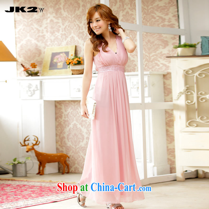 JK 2. YY sexy V staples for snow Pearl woven bridesmaid skirt long hosted evening dress code the dress sleeveless dresses pink are code 100 recommendations about Jack