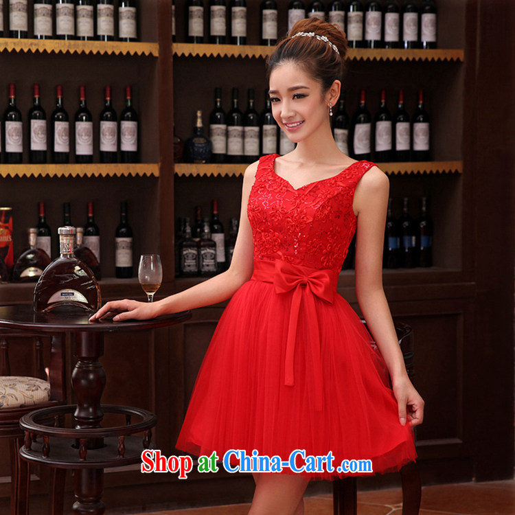 Time his wedding dress female bridal toast clothing parquet drill double-shoulder V collar short red small dress shaggy dress dresses evening dress 2015 new shaggy dress with XXL pictures, price, brand platters! Elections are good character, the national distribution, so why buy now enjoy more preferential! Health