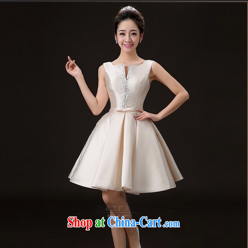 2015 new spring and summer wedding dresses bridal toast clothing fashion beauty at Merlion red wedding dress short dress stage serving champagne color tailored contact Customer Service